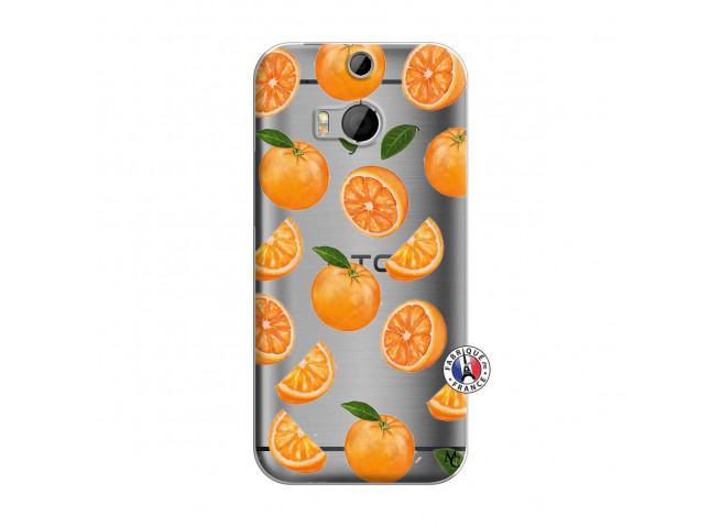 Coque HTC ONE M8 Orange Gina