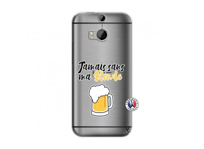 Coque HTC ONE M8 Jamais Sans Ma Blonde