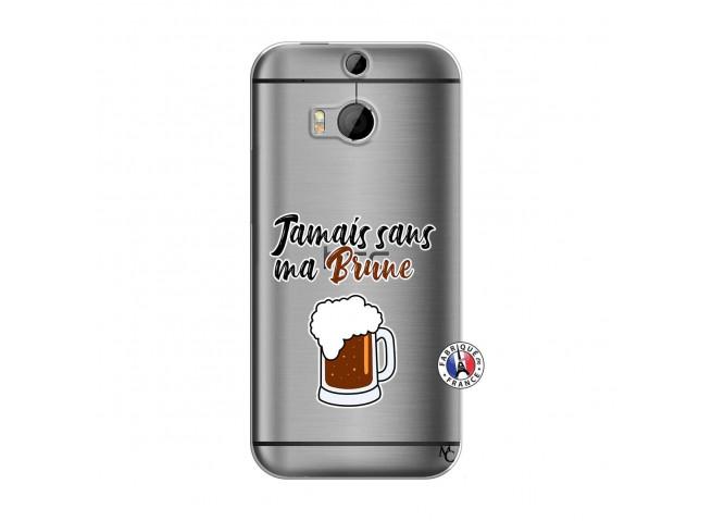 Coque HTC ONE M8 Jamais Sans Ma Brune