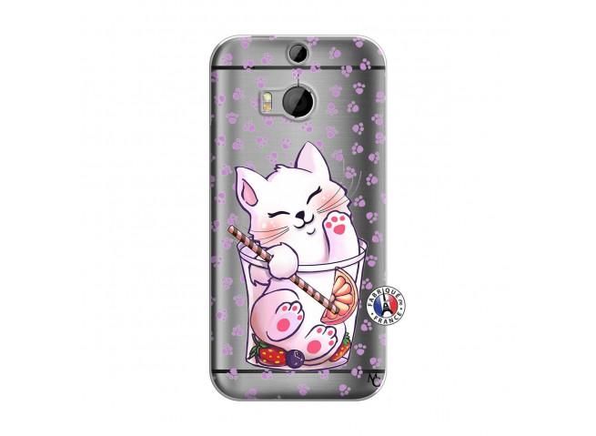 Coque HTC ONE M8 Smoothie Cat