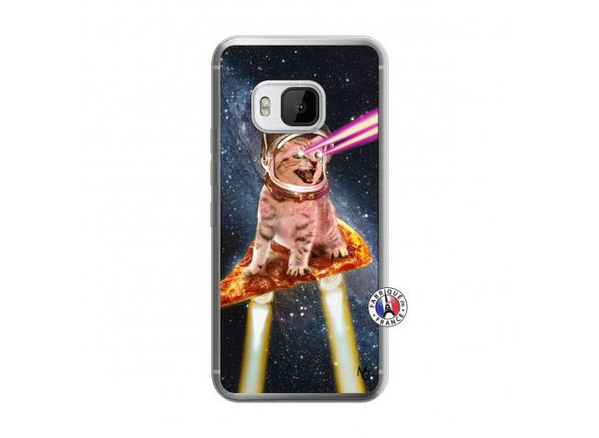Coque HTC ONE M9 Cat Pizza Translu