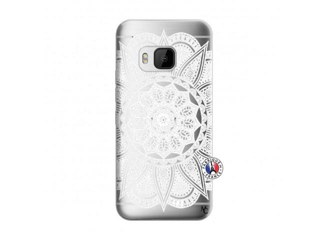Coque HTC ONE M9 White Mandala