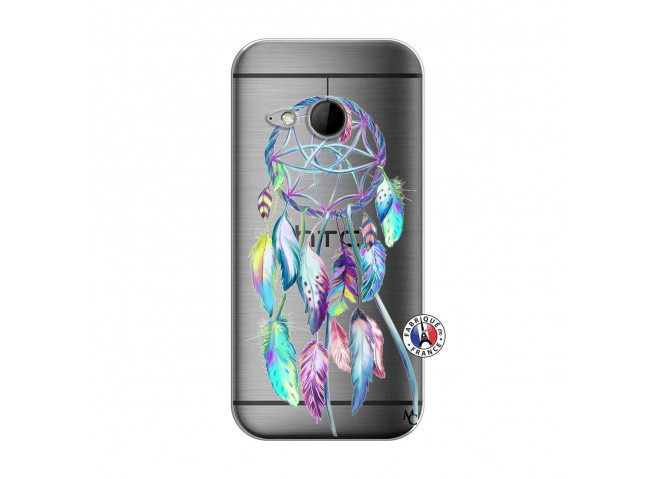 Coque HTC ONE Mini M8 Blue Painted Dreamcatcher