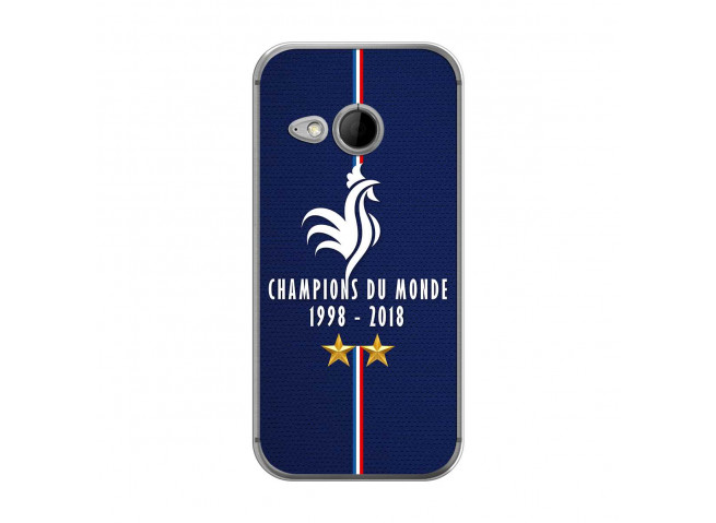 Coque Htc ONE Mini M8 Champions Du Monde 1998 2018 Transparente