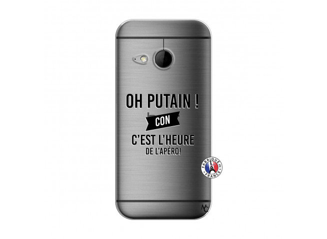 Coque HTC ONE Mini M8 Oh Putain C Est L Heure De L Apero