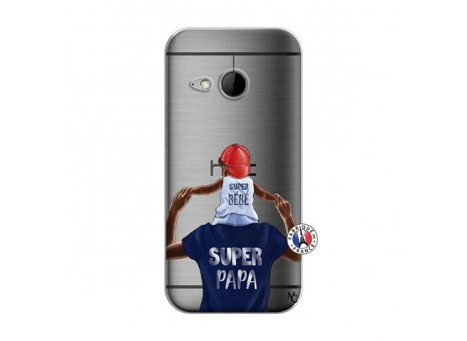 Coque HTC ONE Mini M8 Papa Super Heros
