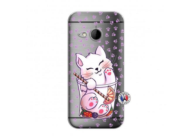 Coque HTC ONE Mini M8 Smoothie Cat