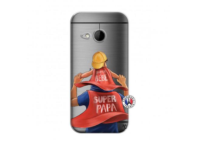 Coque HTC ONE Mini M8 Super Papa et Super Bébé