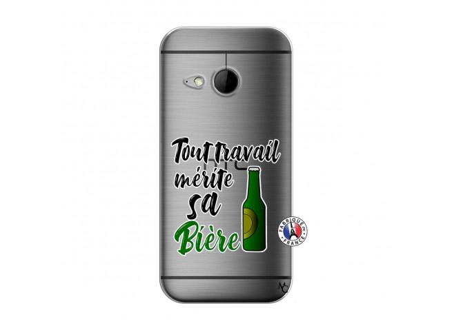 Coque HTC ONE Mini M8 Tout Travail Merite Sa Biere