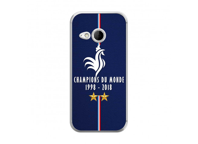 Coque Htc ONE Mini Champions Du Monde 1998 2018 Transparente