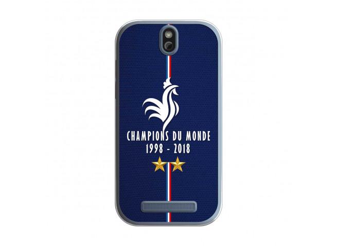 Coque Htc ONE SV Champions Du Monde 1998 2018 Transparente