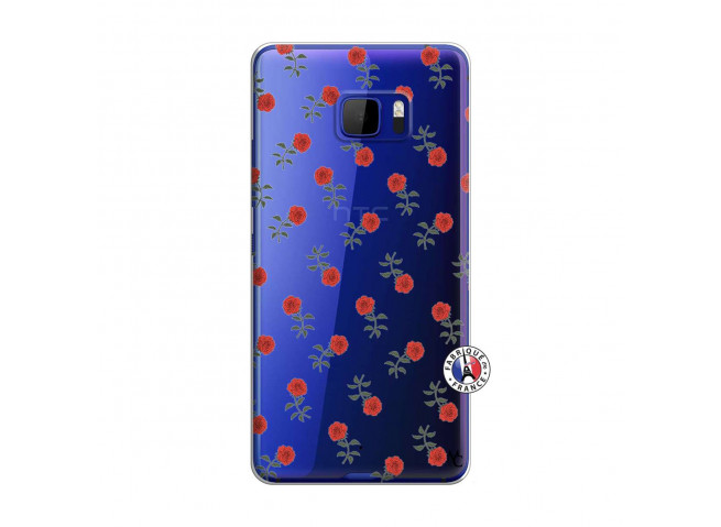 Coque HTC U Play Rose Pattern