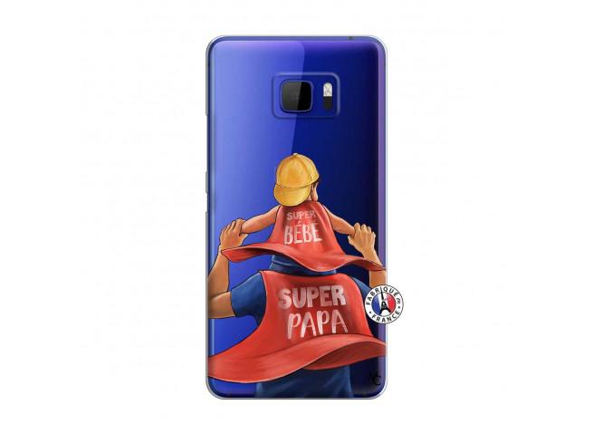 Coque HTC U Ultra Super Papa et Super Bébé