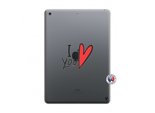 Coque iPad 10.2 I Love You