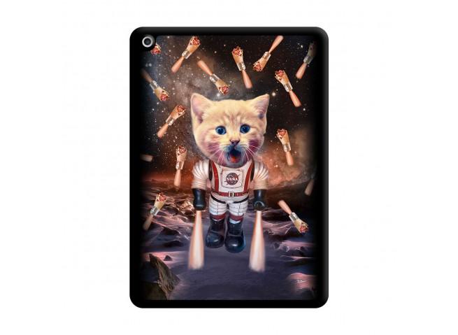 Coque iPad 2018/2017 Cat Nasa Noir