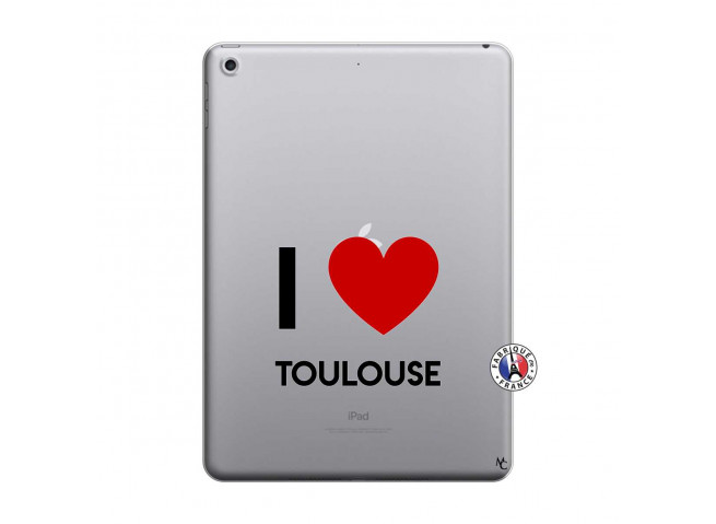 Coque iPad 2018/2017 I Love Toulouse