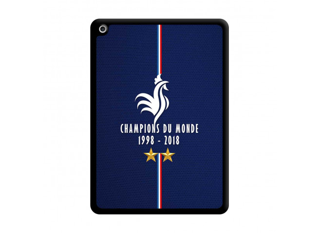 Coque iPad 2018/2017 Champions Du Monde 1998 2018 Noire