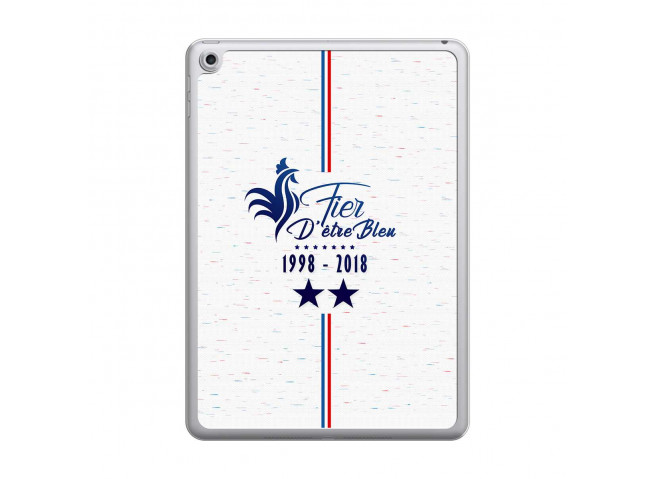 Coque Bords Transparents iPad 2018/2017 Fier d'être Bleu 2018