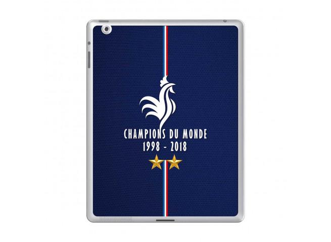 Coque iPad 2 Champions Du Monde 1998 2018 Transparente
