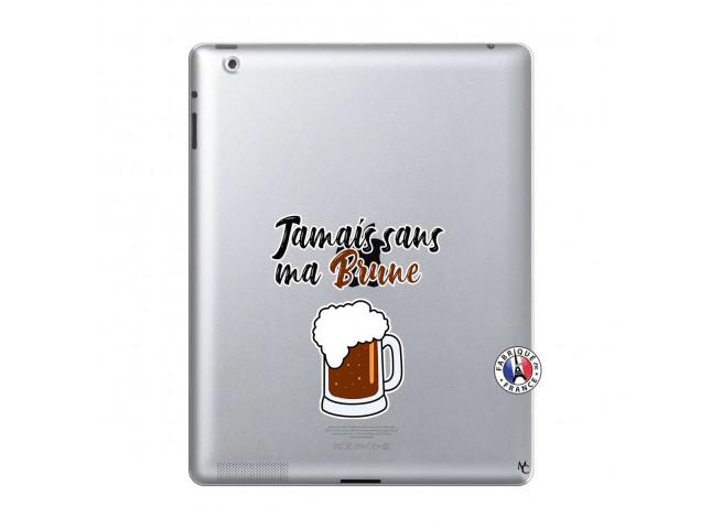 Coque iPad 2 Jamais Sans Ma Brune