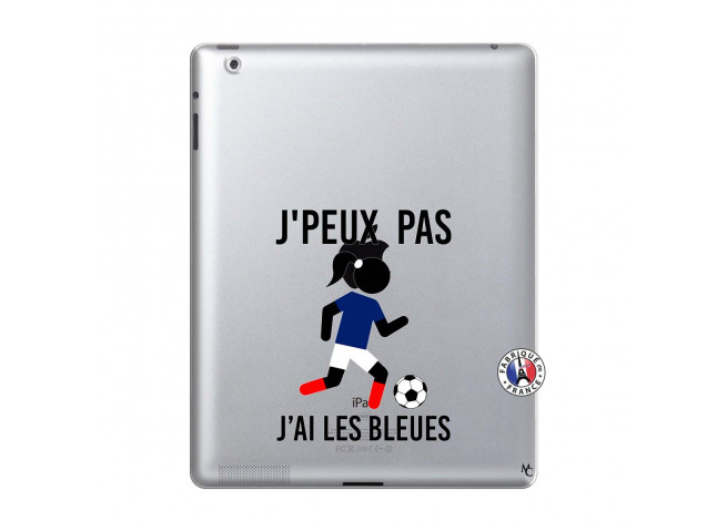 Coque iPad 2 Je Peux Pas J Ai Les Bleues