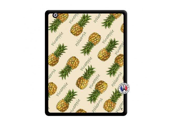 Coque iPad 2 Sorbet Ananas Noir