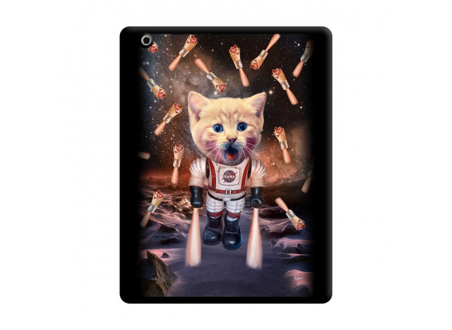 Coque iPad 3/4 Retina Cat Nasa Noir