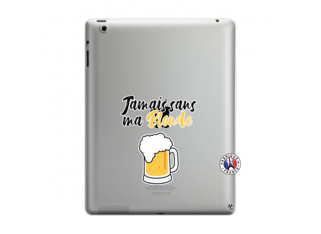 Coque iPad 3/4 Retina Jamais Sans Ma Blonde