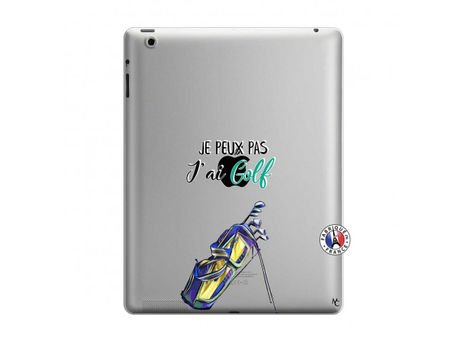 Coque iPad 3/4 Retina Je Peux Pas J Ai Golf