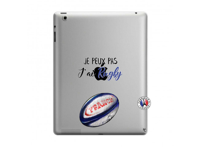 Coque iPad 3/4 Retina Je Peux Pas J Ai Rugby