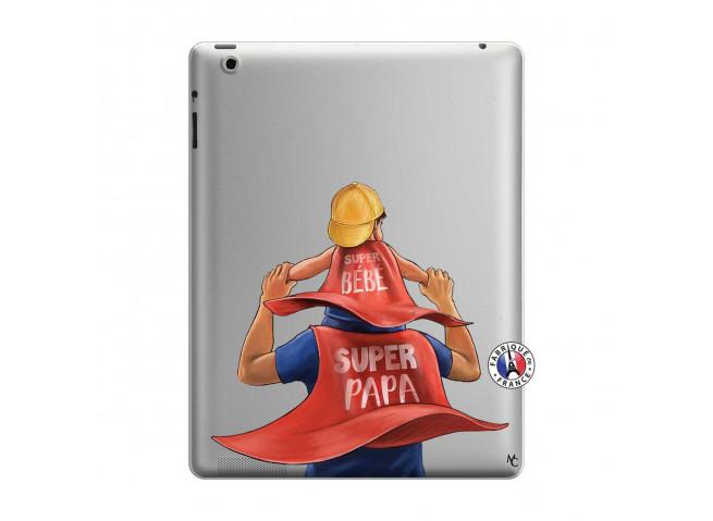 Coque iPad 3/4 Retina Super Papa et Super Bébé