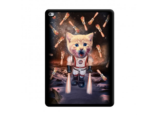Coque iPad AIR 2 Cat Nasa Noir