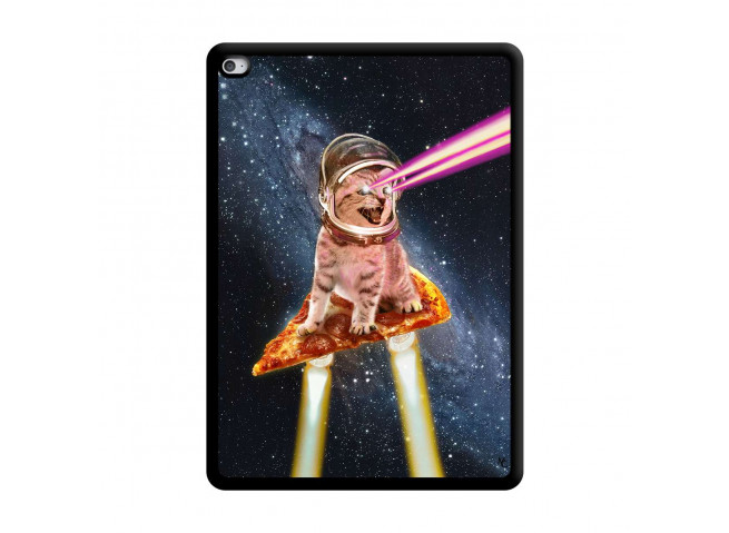 Coque iPad AIR 2 Cat Pizza Noir