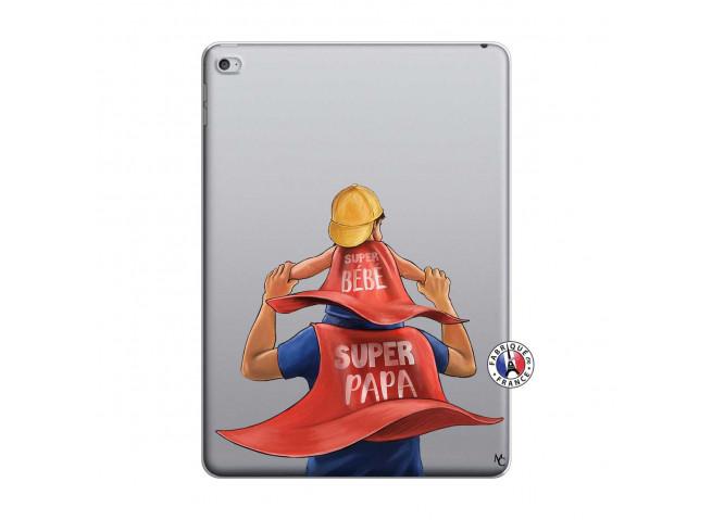 Coque iPad AIR 2 Super Papa et Super Bébé