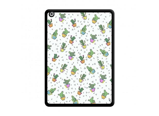 Coque iPad AIR Le Monde Entier est un Cactus Noir