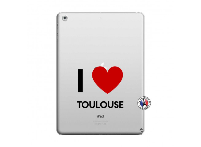 Coque iPad AIR I Love Toulouse