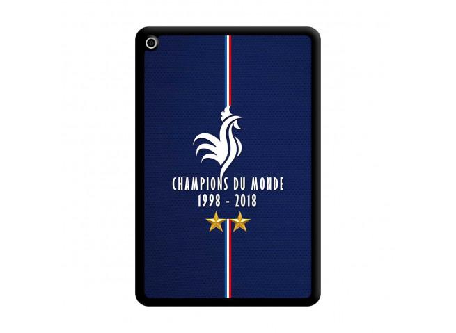 Coque iPad Mini 4 Champions Du Monde 1998 2018 Noire