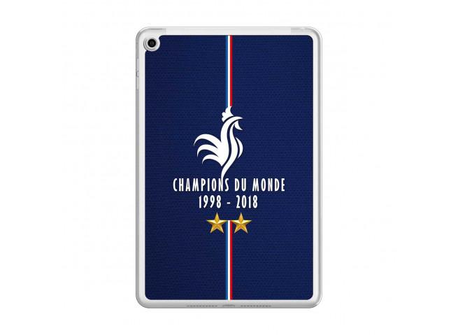 Coque iPad Mini 4 Champions Du Monde 1998 2018 Transparente