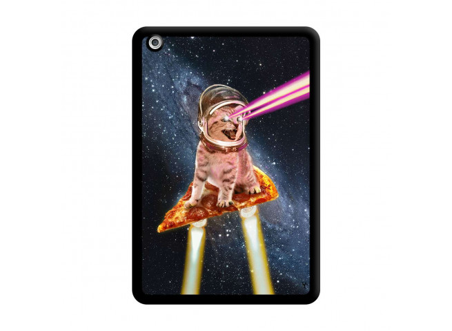 Coque iPad Mini 3/2/1 Cat Pizza Noir