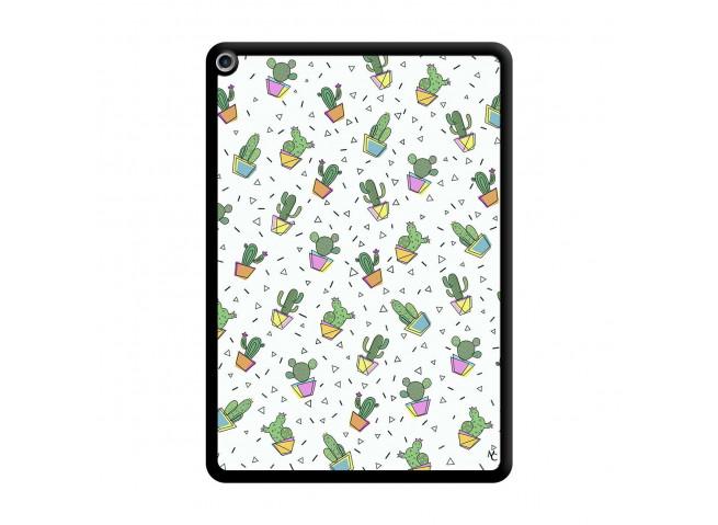 Coque iPad PRO 10.5/air 2019 Le Monde Entier est un Cactus Noir