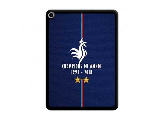 Coque iPad PRO 2018 11 Pouces Champions Du Monde 1998 2018 Noire