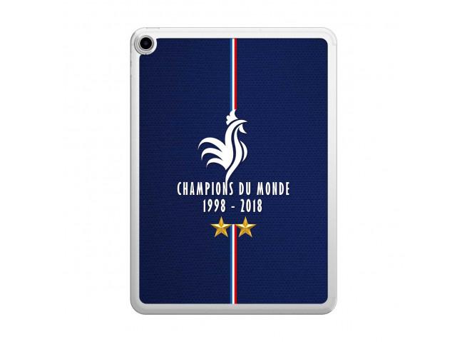 Coque iPad PRO 2018 11 pouces Champions Du Monde 1998 2018 Transparente