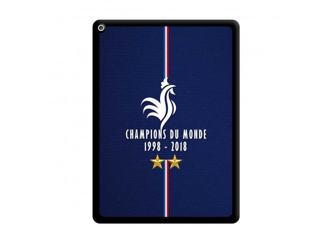 Coque iPad PRO 12.9 Champions Du Monde 1998 2018 Noire