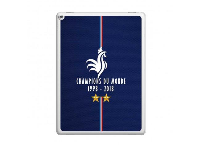 Coque iPad PRO 12.9 Champions Du Monde 1998 2018 Transparente