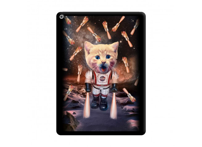Coque iPad PRO 12.9 Cat Nasa Noir