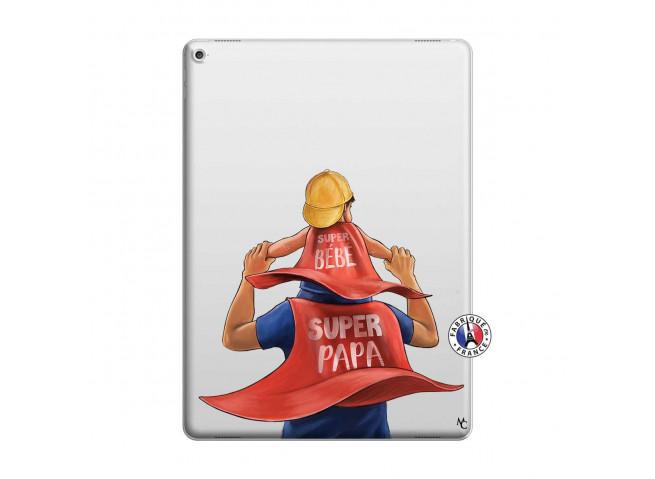 Coque iPad PRO 12.9 Super Papa et Super Bébé