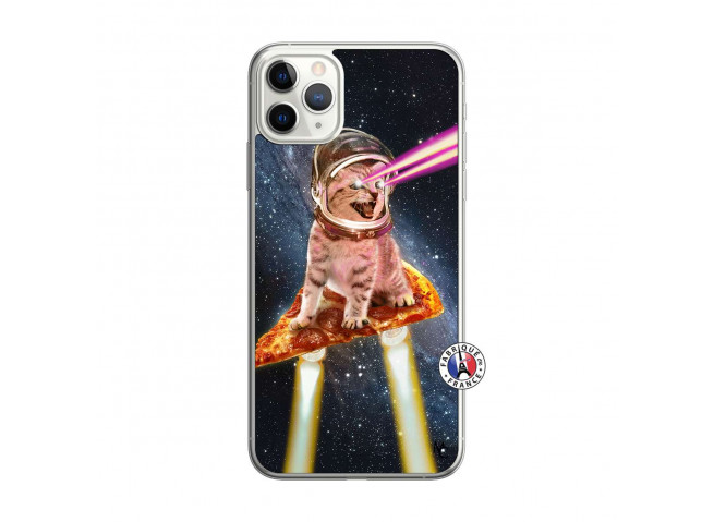Coque iPhone 11 PRO MAX Cat Pizza Translu