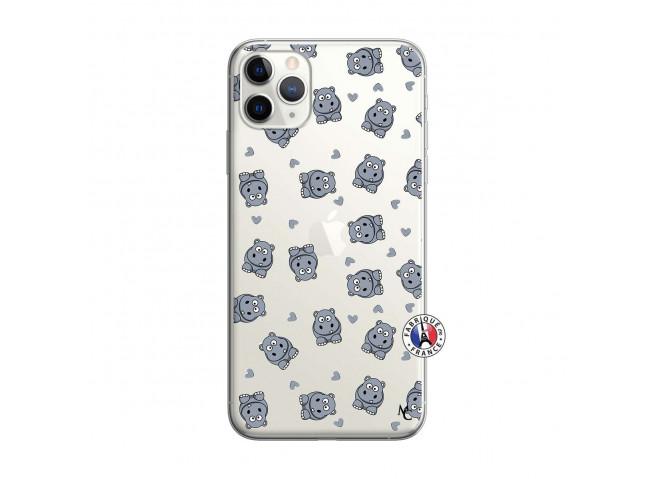 Coque iPhone 11 PRO MAX Petits Hippos