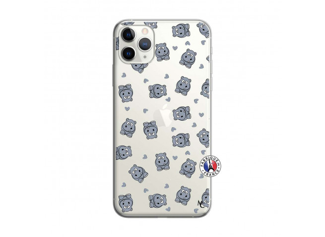 Coque iPhone 11 PRO Petits Hippos