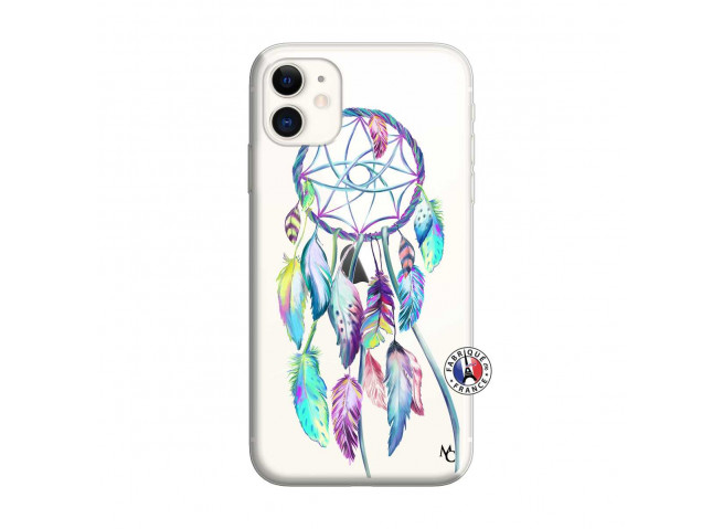 Coque iPhone 11 Blue Painted Dreamcatcher